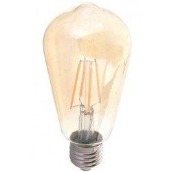E27 LED V-Tac 6W LED pære - Kultråd, røget glas, ekstra varm hvid, 2200K, ST64, E27