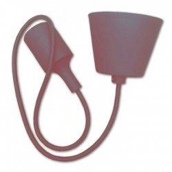 LED pendel V-Tac silikone pendellampe med stofledning - Brun, E27