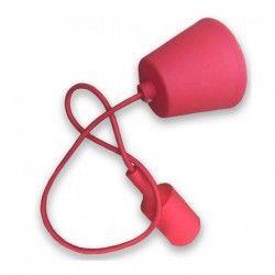LED pendel V-Tac silikone pendellampe med stofledning - Rød, E27