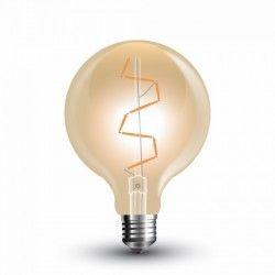 E27 LED V-Tac 4W LED globepære - Kultråd, Ø9,5 cm, ekstra varm hvid, 2200K, E27