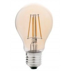 E27 LED LEDlife 4W LED pære - Dæmpbar, kultråd, røget glas, ekstra varm hvid, 2200K, A60, E27