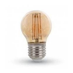 E27 LED LEDlife 4W LED kronepære - Dæmpbar, kultråd, røget glas, ekstra varm hvid, 2200K, A60, E27