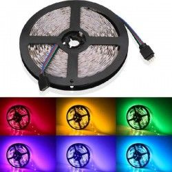 12V RGB V-Tac 4,8W/m RGB stænktæt LED strip - 5m, 30 LED pr. meter