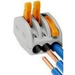 Samledåser Skrueløs samlemuffe til 3 ledninger