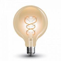 E27 Globe LED pærer V-Tac 5W LED globepære - Kultråd, Ø9,5 cm, ekstra varm hvid, E27