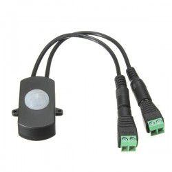 24V trappebelysning PIR sensor til LED strip - 12V (60W), 24V (120W), med skrueterminaler