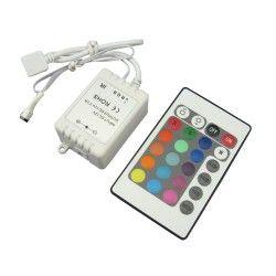 12V IP68 RGB RGB kontroller med fjernbetjening - 12V (72W), 24V (144W), infrarød
