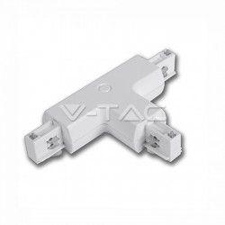Skinnespots V-Tac T-samler til skinner - Hvid