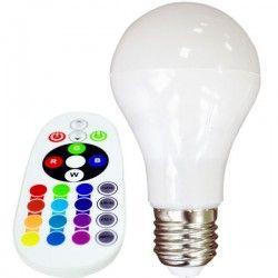 E27 LED V-Tac 6W RGB LED pære - Med RF fjernbetjening, E27