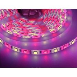 12V RGB+WW V-Tac 10,8W/m RGB+WW LED strip - 5m, 60 LED pr. meter