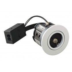 Vådrums indbygningsspots LEDlife Inno88 - MR16, mat hvid, IP44, godkendt i isolering