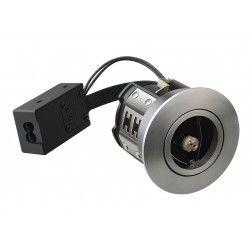 Vådrums indbygningsspots LEDlife Inno88 - MR16, børstet alu, IP44, godkendt i isolering
