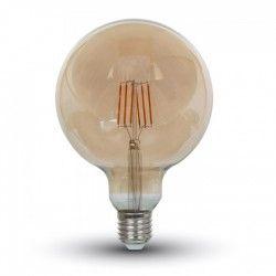 E27 LED V-Tac 6W LED globepære - Kultråd, Ø12,5 cm, ekstra varm hvid, 2200K, E27
