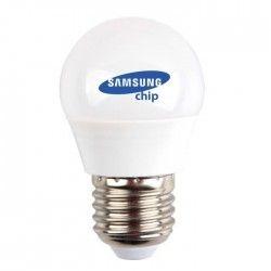 E27 LED V-Tac 4,5W LED kronepære - Samsung LED chip, G45, E27