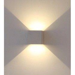 Udendørs væglamper V-Tac 6W LED grå væglampe - Firkantet, justerbar spredning, IP65 udendørs, 230V, inkl. lyskilde