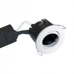 Vådrums indbygningsspots Nordtronic Uni Install indbygningsspot - Mat hvid, IP44, godkendt i isolering