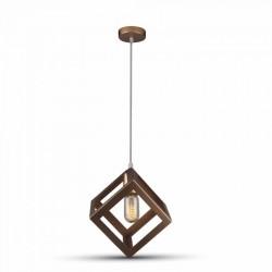 LED pendel V-Tac geometrisk pendellampe - Champagne/guld farve, kvadrat, E27