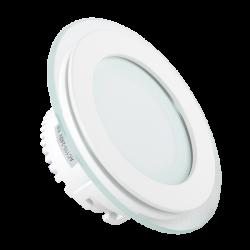 Indbygningsspots V-Tac 6W LED glas indbygningsspot - Hul: Ø7,5 cm, Mål: Ø10 cm, 230V