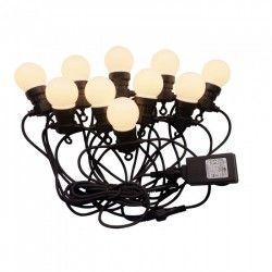 Havelamper V-Tac LED lyskæde med 10 stk. 0,5W pærer - 5 meter, IP44, 230V, inkl. lyskilde