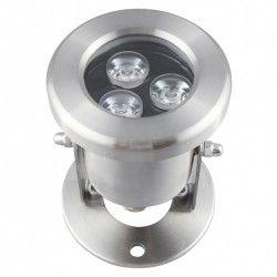 Projektør 10W LED sø/pool projektør - Varm hvid, IP68, 100% vandtæt, Rustfri, 12V