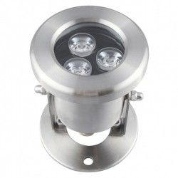 Projektører 8W LED sø/pool projektør - Varm hvid, IP68, 100% vandtæt, Rustfri, 12V