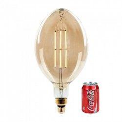 LED pærer og spots V-Tac 8W LED kæmpe globepære - Kultråd, Ø18 cm, dæmpbar, ekstra varm hvid, 2000K, E27