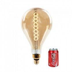 LED pærer og spots V-Tac 8W LED kæmpe globepære - Kultråd, Ø16 cm, dæmpbar, ekstra varm hvid, 2000K, E27