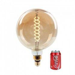 LED pærer og spots V-Tac 8W LED kæmpe globepære - Kultråd, Ø20 cm, dæmpbar, ekstra varm hvid, 2000K, E27