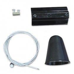 Skinnespots V-Tac wireophæng til skinner - Sort, passer til V-Tac skinner, 3-faset