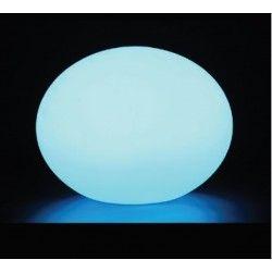 Havelamper V-Tac RGB LED oval kugle - Genopladelig, med fjernbetjening, Ø20 cm