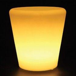 Havelamper V-Tac RGB LED potteskjuler - Genopladelig, med fjernbetjening, 28x28x29 cm