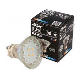 LED vækstlys Grøn LED spot - 1W, 230V, GU10
