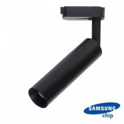 Skinnespots V-Tac sort skinnespot 7W - Samsung LED chip, 3-faset