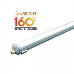 LED lysstofrør armatur / lampe V-Tac vandtæt 24W komplet LED armatur - 120 cm, 160 lm/W, IP65, 230V