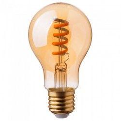 E27 LED V-Tac 4W LED pære - Spiral kultråd, røget glas, ekstra varm hvid, 2200K, A60, E27