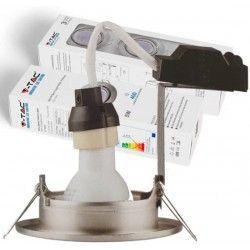 Indbygningsspots V-Tac 3-pak Indbygningsspot med 5W lyskilde - Stål front, komplet med GU10 holder og LED spot