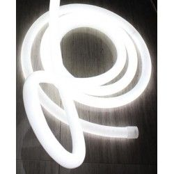 230V Neon Flex Neutral hvid D16 Neon Flex LED - 8W pr. meter, IP67, 230V