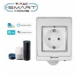 Smart Home Enheder V-Tac Smart Home vandtæt Wifi stikkontakt - Virker med Google Home, Alexa og smartphones, 230V