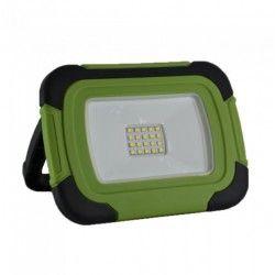 Projektører V-Tac LED projektør 10W - 12V/230V, transportabel, genopladelig, arbejdslampe, udendørs