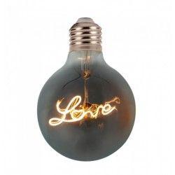 LED pærer og spots V-Tac 5W LED Love globepære - Kultråd, Ø12,5cm, ekstra varm hvid, E27