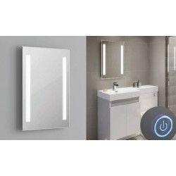 Spejle med lys Spejl med indbygget LED lys - 37W, Touch, Justerbar varm-koldt lys